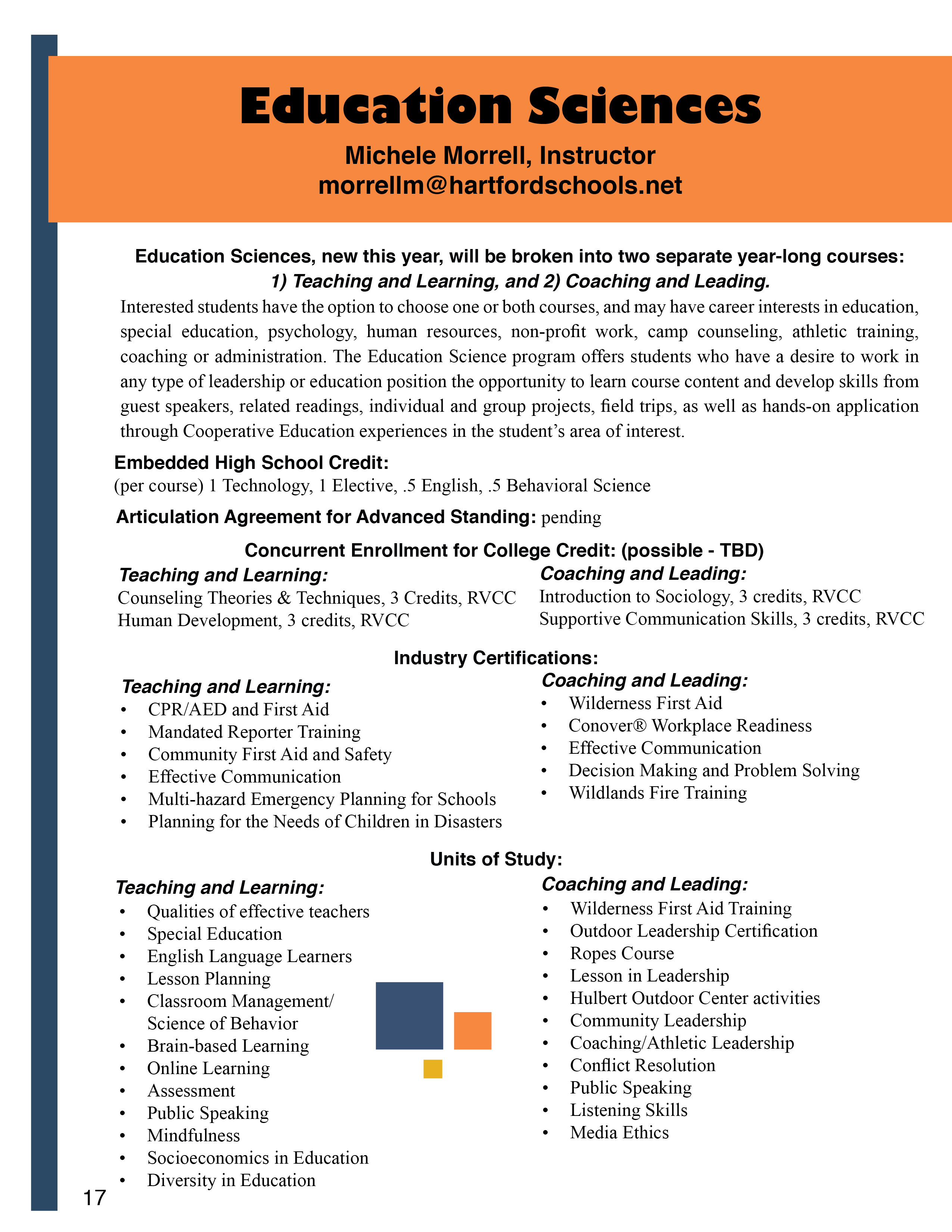 Education Sciences - Hartford Area Career & Technology Center